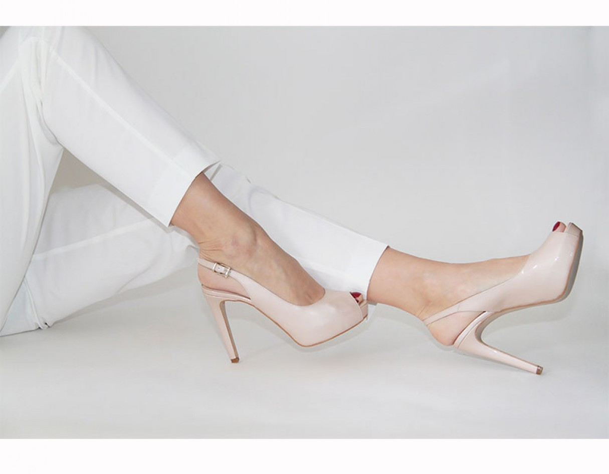 Peep Zapatos Nude Charol Z6incfxrnl De thick Toe nY0wzxSZTq Rdq5FR